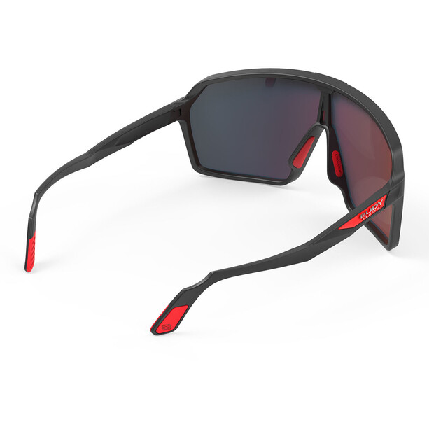Rudy Project Spinshield Brille black matte/multilaser red