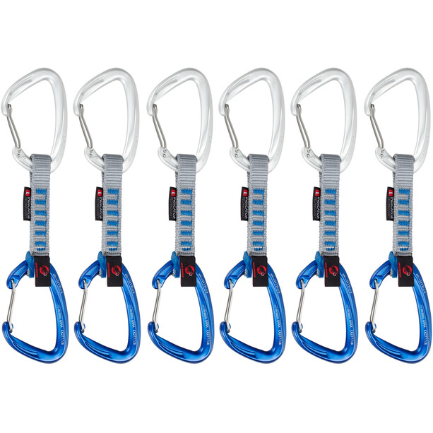 Mammut Crag Wire Express Sets 10cm Indicator 6er Pack wire gate/wire gate, silver-ultramarine