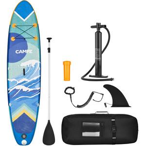 CAMPZ Aufblasbares SUP Board mit Paddel und Pumpe bunt bunt