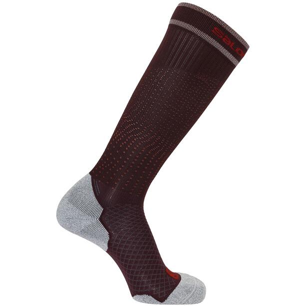 Salomon Coolpression Socken maverick/racing red