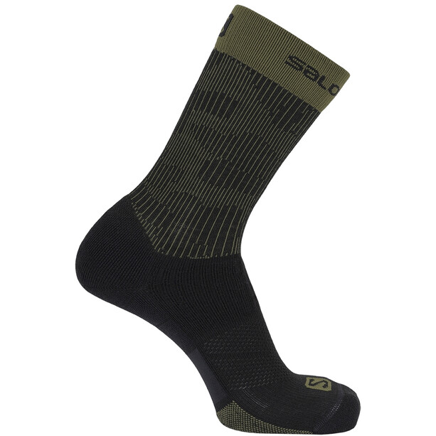 Salomon X Ultra Mid-Cut Socken schwarz/oliv