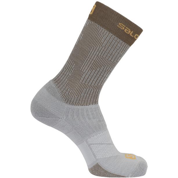 Salomon X Ultra Mid-Cut Socken lunar rock/acorn/butterscotch
