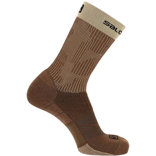 Salomon X Ultra Mid-Cut Socken braun/beige