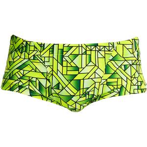 Funky Trunks Classic Trunk Herren grün/gelb grün/gelb