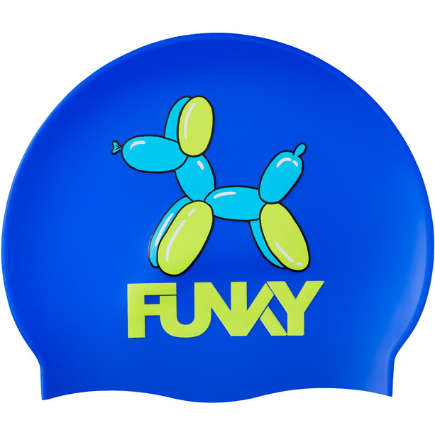 Funky Trunks Silicone Swimming Cap Enfant, balloon dog