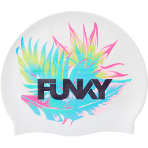 Funky Trunks Silicone Swimming Cap Kinder weiß/bunt weiß/bunt