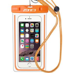 Zone3 Waterproof Phone Pouch, transparente/naranja transparente/naranja