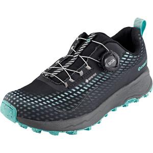 Icebug NewRun RB9 GTX Running Shoes Women, musta/turkoosi musta/turkoosi