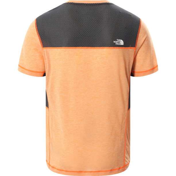 The North Face Circadian Kurzarm T-Shirt Herren shocking orange/white heather/TNF black