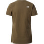 The North Face Easy Kurzarm T-Shirt Damen oliv