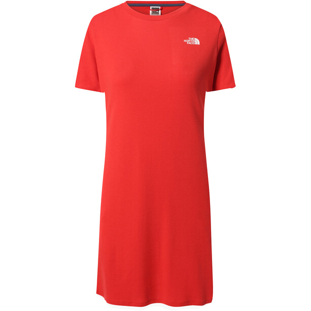 The North Face Simple Dome T-Shirt Kleid Damen horizon red