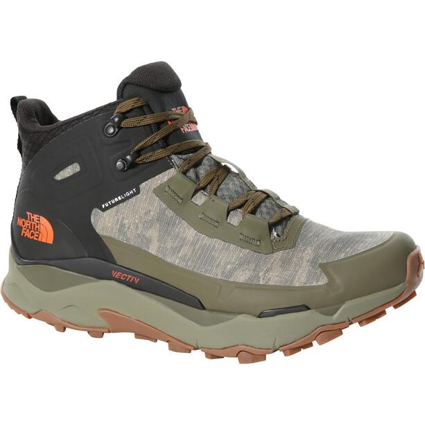 The North Face Vectiv Exploris FutureLight Mid-Cut Schuhe Herren military olive cloud camo wash print/TNF black
