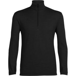 Icebreaker Original Langarm Half Zip Pullover Herren schwarz schwarz