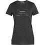 Icebreaker Tech Lite SS Low Crew Shirt Queenstown Women, harmaa