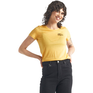 Icebreaker Tech Lite Kurzarm Low Rundhalsshirt The Good Life Damen safflower safflower