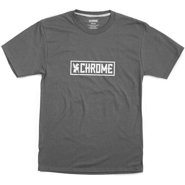 Chrome Horizontal Border Tee, gris/blanc