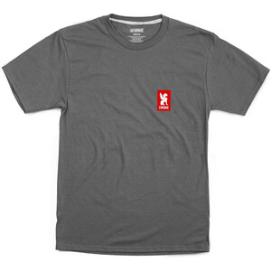 Chrome Vertical Red Logo Tee charcoal/red charcoal/red
