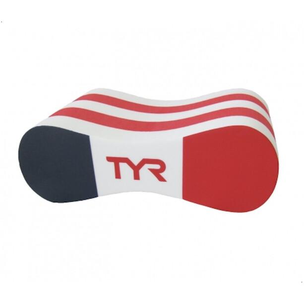 TYR FFN Pull Buoy Frankreich weiß/rot