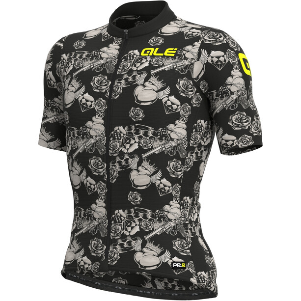 Alé Cycling PRR Las Vegas Kurzarm Trikot Herren black/dove grey