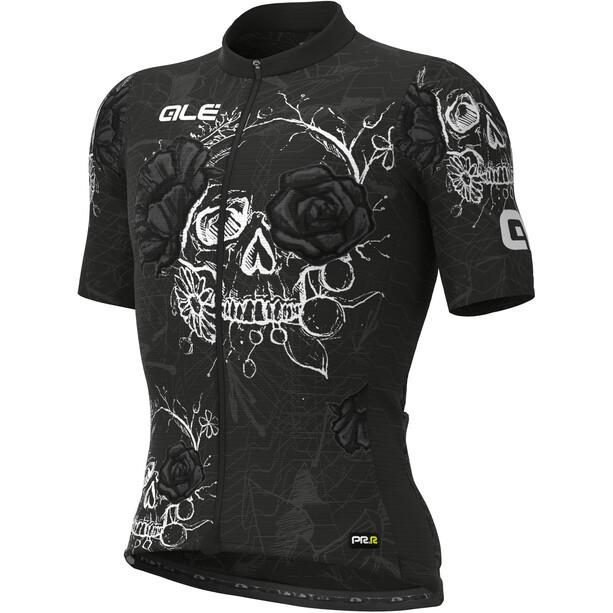 Alé Cycling PRR Skull Kurzarm Trikot Herren schwarz