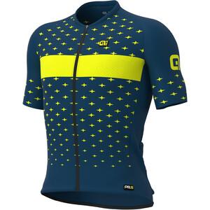 Alé Cycling PRR Stars SS Jersey Men, Bleu pétrole/jaune Bleu pétrole/jaune