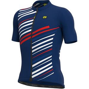 Alé Cycling Solid Flash Kurzarm Trikot Herren blau blau