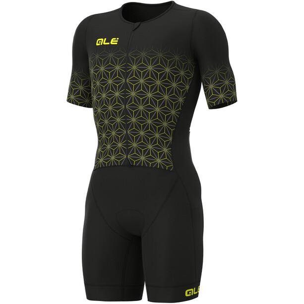 Alé Cycling Maui Kurzarm Triathlon Skinsuit Lang Herren black