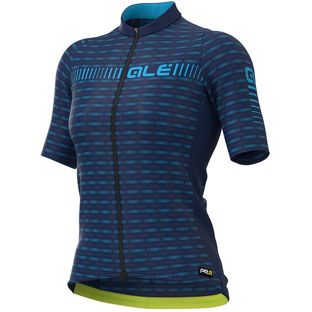 Alé Cycling PRR Green Road SS Jersey Damer, blå
