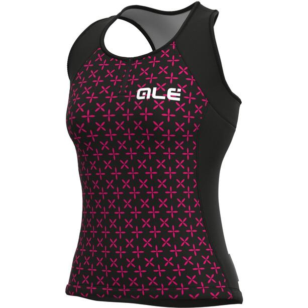 Alé Cycling Solid Helios Tank Top Damen black/fluo magenta