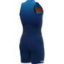 Alé Cycling Stars Ärmelloser Triathlon Skinsuit Lang Herren blue/fluo orange