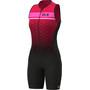 Alé Cycling Stars Ärmelloser Triathlon Skinsuit Lang Damen black/strawberry