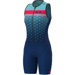 Alé Cycling Stars Ärmelloser Triathlon Skinsuit Lang Damen türkis/blau türkis/blau
