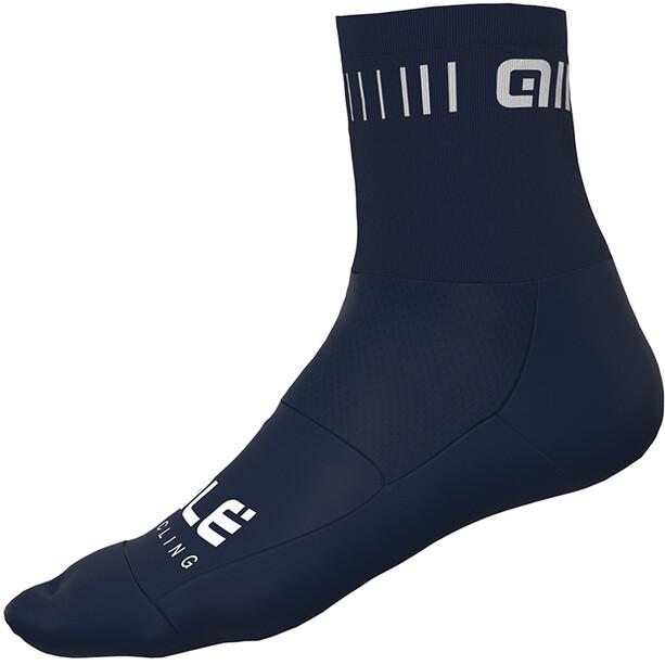 Alé Cycling Strada Q-Skin Sokker 14 cm Herrer, blå/hvid