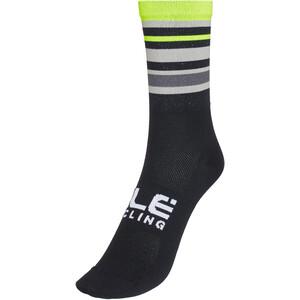 Alé Cycling Stripes Q-Skin Socks 16cm Men svart/gul svart/gul
