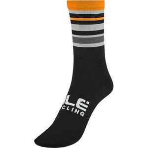 Alé Cycling Stripes Q-Skin Socken 16cm Herren schwarz/orange schwarz/orange