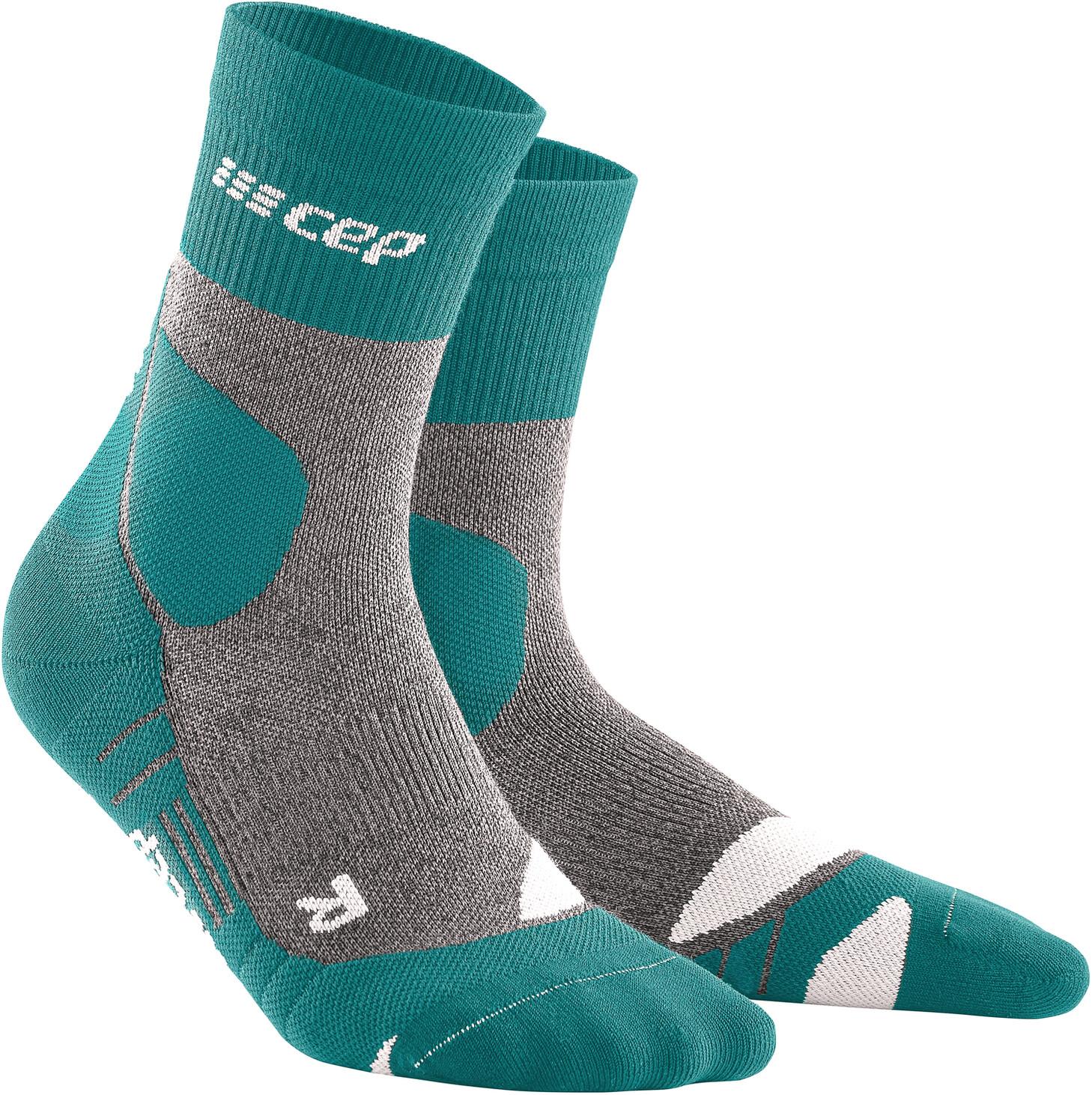 Hiking Merino Mid Cut sokker Herrer, grøn/grå | cykelstrømpe