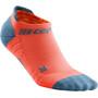 cep No Show Socks 3.0 Femme, rouge/gris