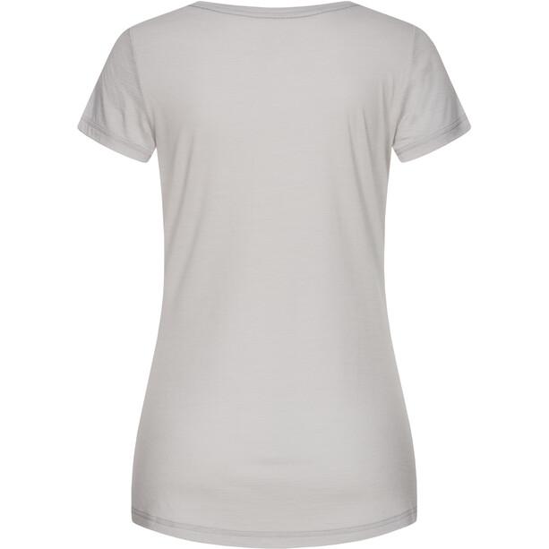super.natural Bike Line T-Shirt Damen light grey/tangerine tango