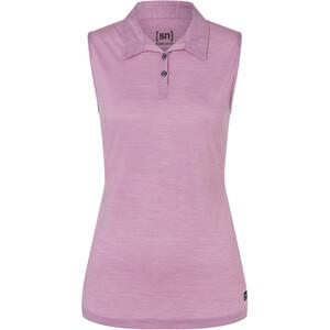 super.natural Sleeveless Polo Women, roze roze
