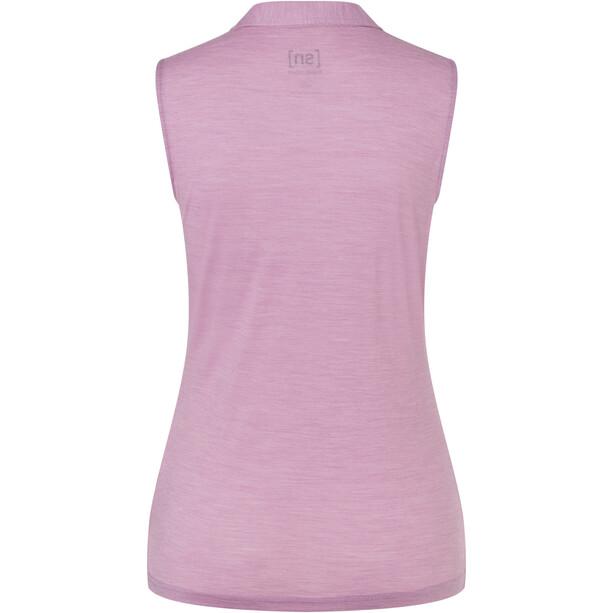 super.natural Ärmelloses Polo Damen dawn pink melange
