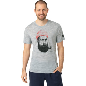 super.natural Graphic T-Shirt Herren ash melange/jet black/high risk red ash melange/jet black/high risk red