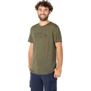 super.natural Surf Line T-Shirt Herren olive night melange/jet black olive night melange/jet black