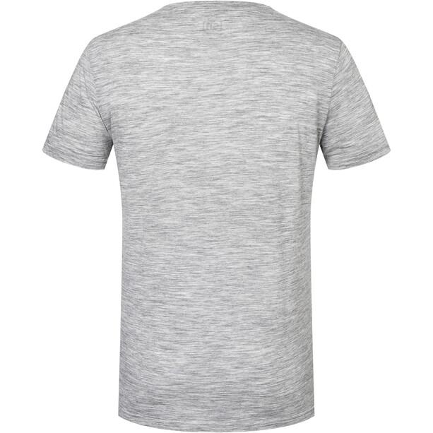 super.natural Space Monkey T-Shirt Herren ash melange/jet black