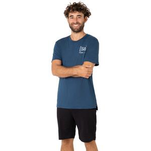 super.natural Active T-Shirt Herren dark denim melange/silver grey dark denim melange/silver grey