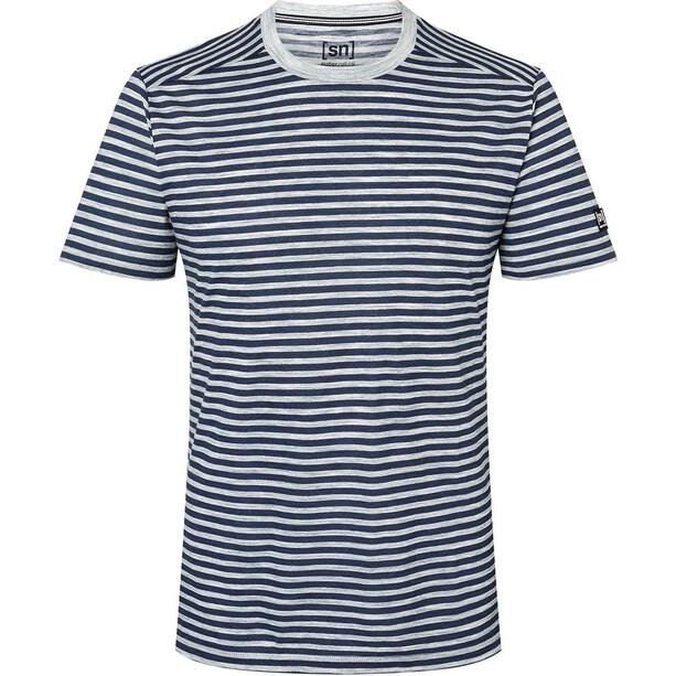 super.natural Marinero T-Shirt Herren ash melange/blue iris