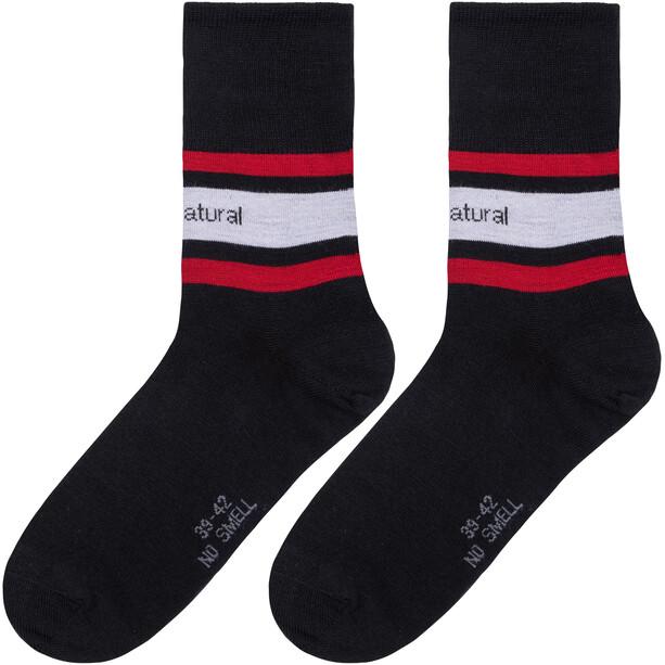 super.natural Everyday Socken Herren grau/rot