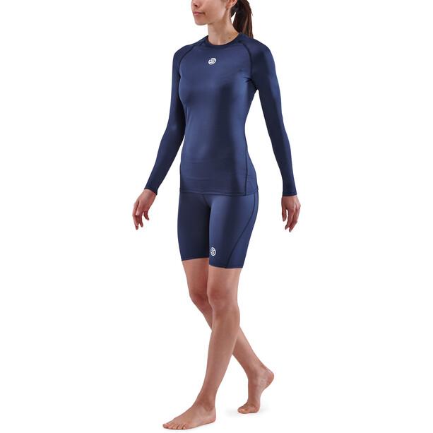 Skins Series-1 Langarm Oberteil Damen blau
