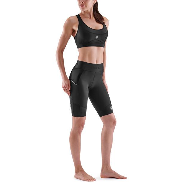 Skins Series-3 Half Tights Damen schwarz