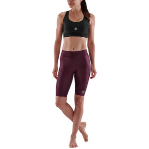 Skins Series-3 Half Tights Damen burgundy burgundy