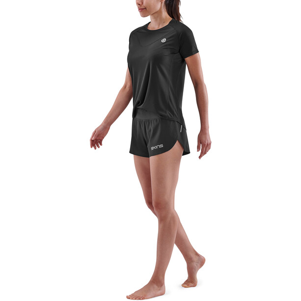 Skins Series-3 Kurzarm Oberteil Damen black
